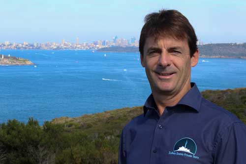 Simon Rowley-Bates, Tour Guide and owner/operator for Sydney Scenic Private Tours